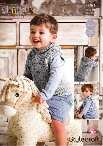 Stylecraft 9281 Knitting Pattern Baby Child Tank Top & Waistcoat in Lullaby Print and Lullaby DK