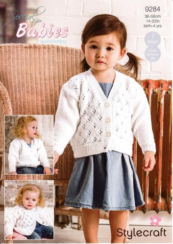 Stylecraft 9284 Knitting Pattern Baby Child Cardigans in Special for Babies DK