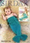 Sirdar 4708 Knitting Pattern Mermaid Tail Snugglers in Snuggly DK