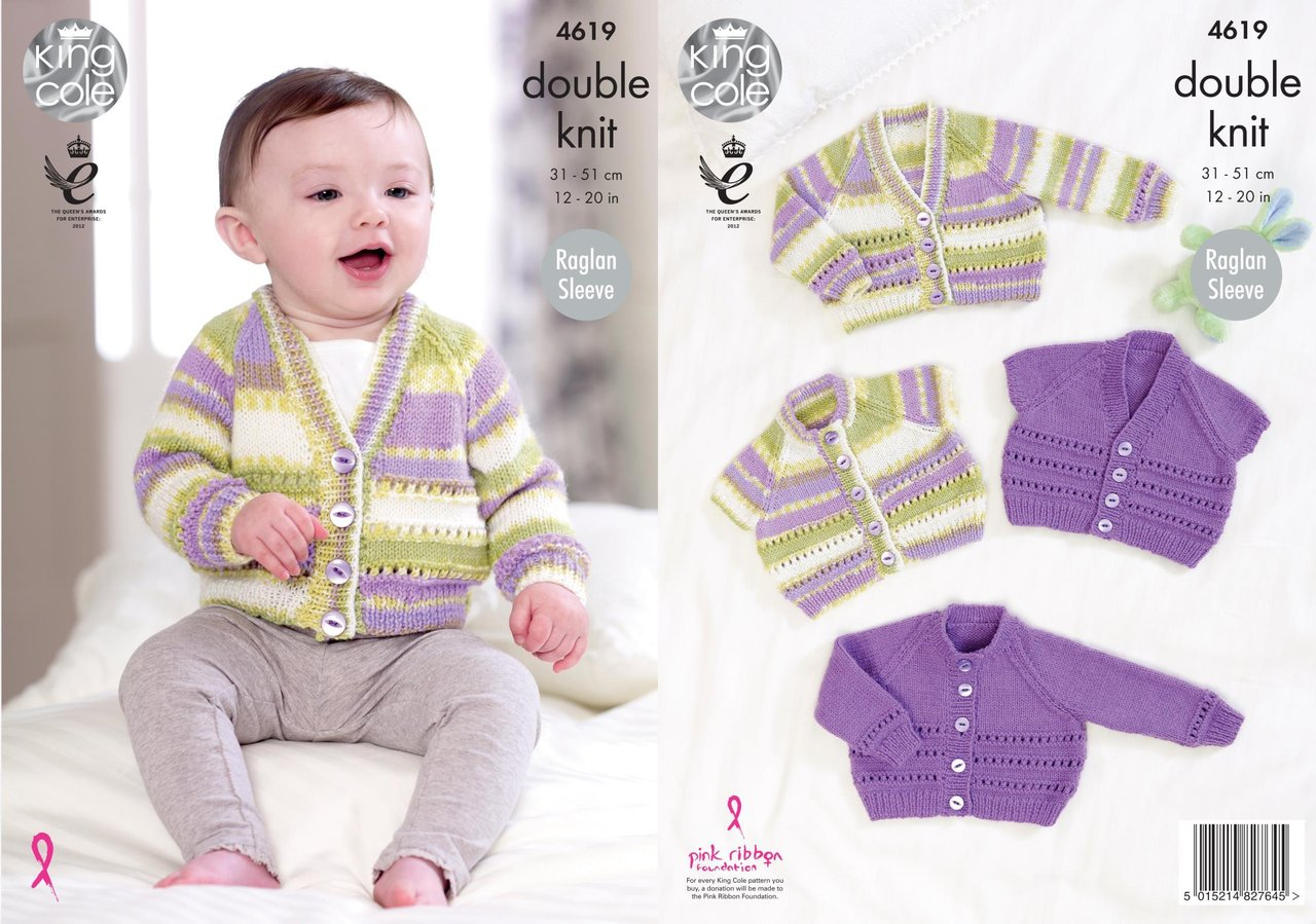 King cole 4619 knitting pattern baby cardigans in king cole king cole 4619 knitting pattern baby cardigans in king cole comfort and comfort prints dk bankloansurffo Gallery