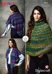 Stylecraft 9304 Knitting Pattern Womens Cape and Reversible Poncho in Stylecraft Carnival Chunky