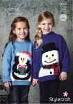 Stylecraft 9309 Knitting Pattern Childrens Christmas Jumper in Stylecraft Special DK