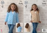 King Cole 4700 Knitting Pattern Girls Cardigan & Waistcoat in Big Value Chunky