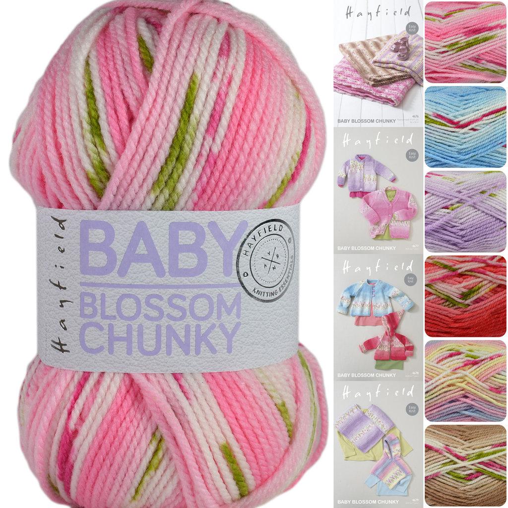 Hayfield Baby Blossom Chunky Self Striping Knitting Yarn
