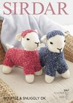 Sirdar 2467 Knitting Pattern Toy Lamb in Sirdar Bouffle and Snuggly DK