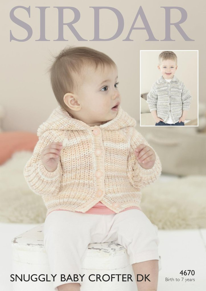 Sirdar Knitting Patterns For Children : Sirdar 4670 Knitting Pattern Baby Childrens Jackets in Sirdar Snuggly Baby Cr...