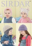 Sirdar 4691 Knitting Pattern Baby Hats in Sirdar Snuggly Tutti Frutti