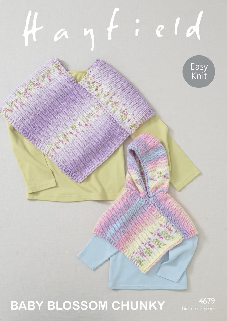 Sirdar 4679 Knitting Pattern Baby Girls Easy Knit Ponchos