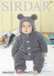 Sirdar 4694 Knitting Pattern Hooded Onesie in Sirdar Snuggly Tutti Frutti