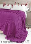 Sirdar 7813 Knitting Pattern Patterned Bed Throw in Hayfield DK with Wool