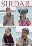 Sirdar 7852 Knitting Pattern Easy Knit Hats Snood and Scarf in Sirdar Harrap Tweed Chunky
