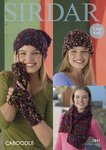 Sirdar 7841 Knitting Pattern Womens Hats, Scarf and Wrist Warmers in Sirdar Caboodle