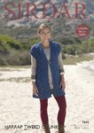 Sirdar 7849 Knitting Pattern Womens Waistcoat in Sirdar Harrap Tweed Chunky