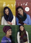 Sirdar 7854 Knitting Pattern Womens Easy Knit Hat, Scarf, Mitts and Snoods in Hayfield Illusion DK