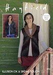 Sirdar 7856 Knitting Pattern Womens Waistcoat and Cardigan in Hayfield Illusion DK & Sirdar Touch