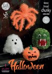 King Cole 9052 Knitting Pattern Halloween Monsters in Tinsel Chunky
