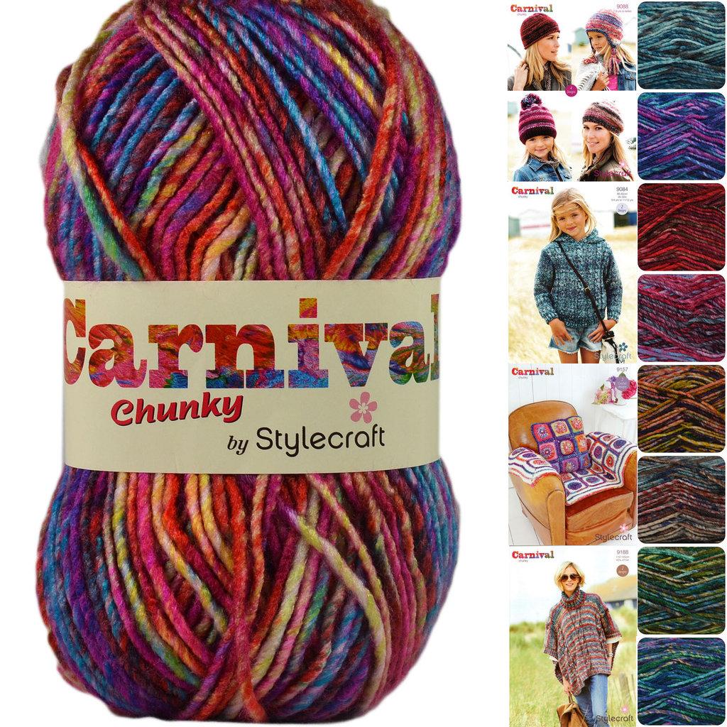 Stylecraft Carnival Chunky Knitting Yarn Athenbys