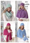 King Cole 4695 Knitting Pattern Womens Accessories in King Cole Embrace DK