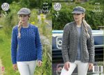 King Cole 4708 Knitting Pattern Cardigan and Sweater in King Cole Big Value Super Chunky