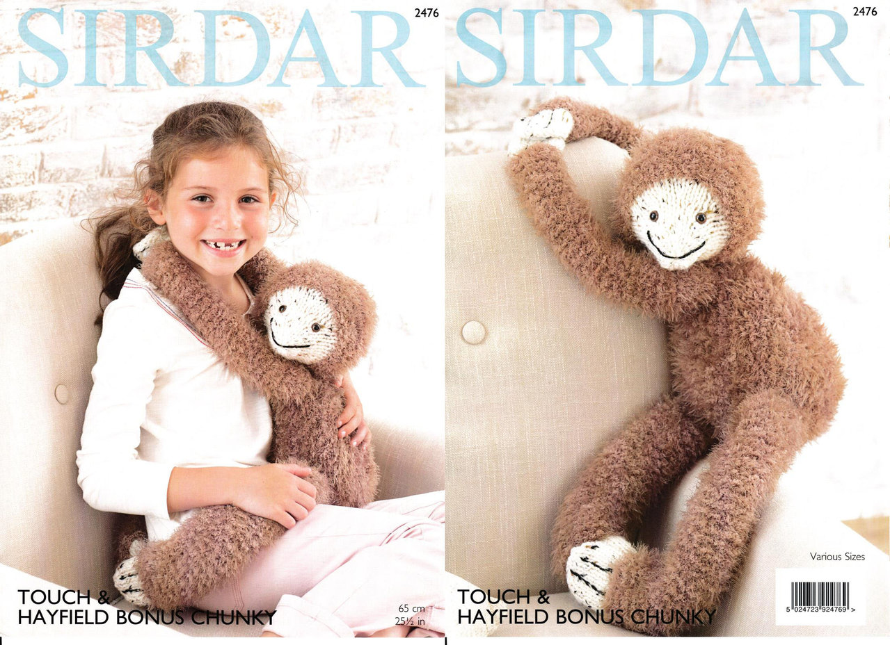 Sirdar Knitting Patterns Toys : Sirdar 2476 Knitting Pattern Gordon The Sloth Toy in ...