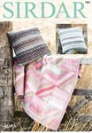 Sirdar 7882 Knitting Pattern Throw and Cushion Covers in Sirdar Aura Chunky