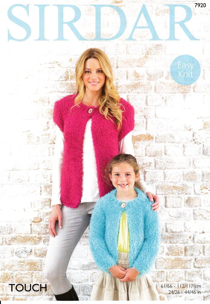 875f5f987 Sirdar 7920 Knitting Pattern Womens Girls Easy Knit Cardigans in Sirdar  Touch Super Chunky - Athenbys