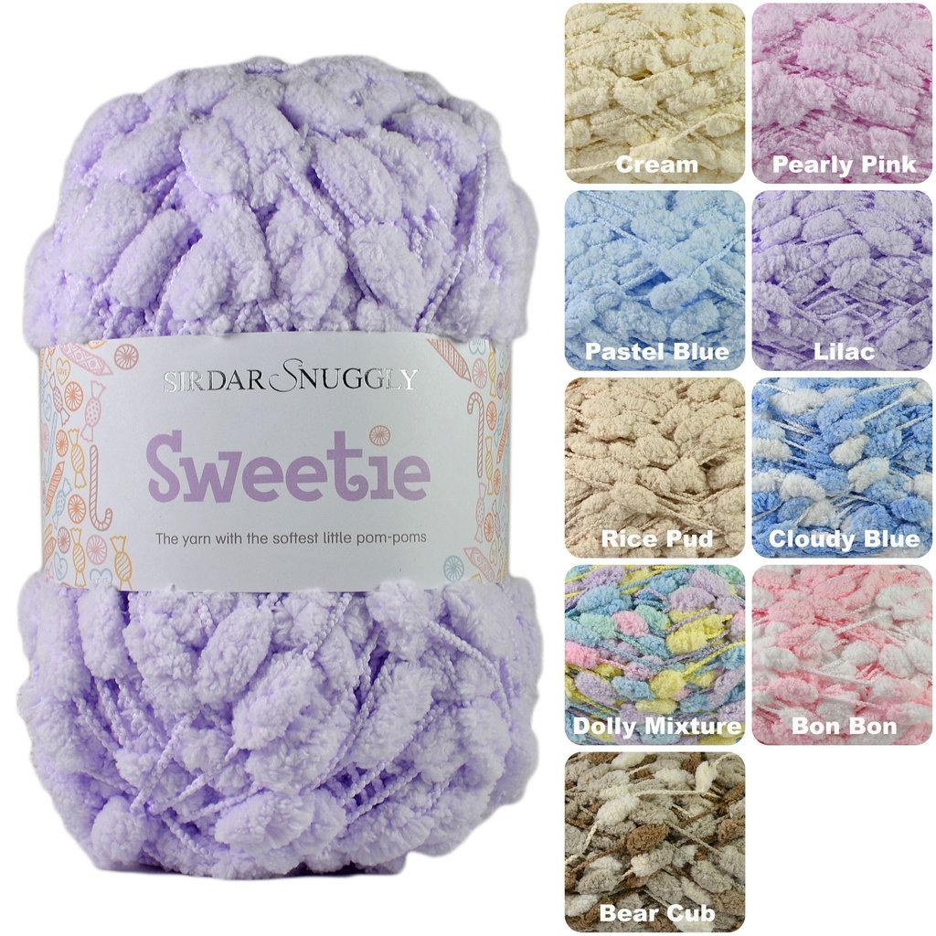 Pom Pom Wool Knitting Patterns : Sirdar Snuggly Sweetie Pom Pom Knitting Yarn