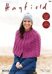 Sirdar 7896 Knitting Pattern Womens Button Up Cape in Hayfield Bonus Aran Tweed