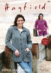 Sirdar 7895 Knitting Pattern Womens Round Neck and Collared Cardigans in Hayfield Bonus Aran Tweed