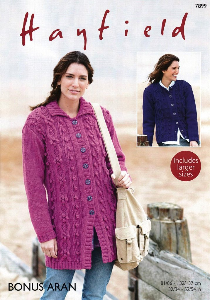 Sirdar 7899 Knitting Pattern Womens Jacket And Cardigan In Hayfield