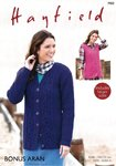 Sirdar 7900 Knitting Pattern Womens Cable Waistcoat and Cardigan in Hayfield Bonus Aran