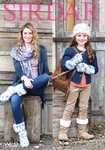 Sirdar 7970 Knitting Pattern Girls Womens Hat Scarf Wristwarmers and Husky Boots in Sirdar Wild