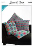 James C Brett JB409 Crochet Pattern Cushions in James C Brett Noodles Chunky