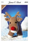 James C Brett JB405 Crochet Pattern Rudolf The Reindeer Toy in James C Brett Flutterby Chunky