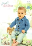 Stylecraft 9345 Knitting Pattern Baby Childrens Cardigans and Hat in Stylecraft Special