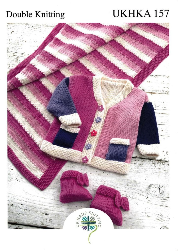 Ukhka Knitting Patterns : Ukhka knitting pattern baby jacket pram rug and