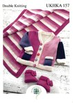 UKHKA 157 Knitting Pattern Baby Jacket, Pram Rug and Bootees in DK