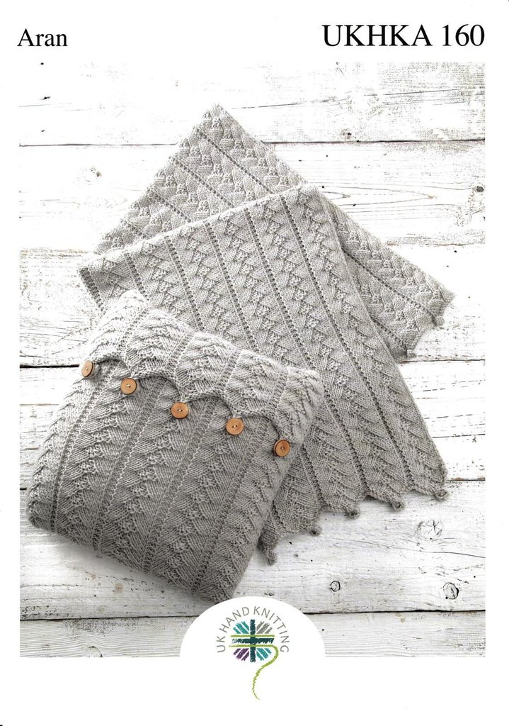 Ukhka Knitting Patterns : Ukhka knitting pattern cushion and blanket in aran