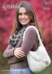 Wendy 5972 Knitting Pattern Cowl, Bag and Wrist Warmers in Wendy Eider Chunky and Mode Chunky