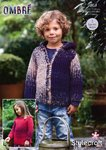 Stylecraft 9251 Knitting Pattern Childrens Easy Knit Sweater and Jacket in Stylecraft Ombre Aran