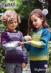 Stylecraft 9252 Knitting Pattern Childrens Easy Knit Sweaters in Stylecraft Ombre Aran