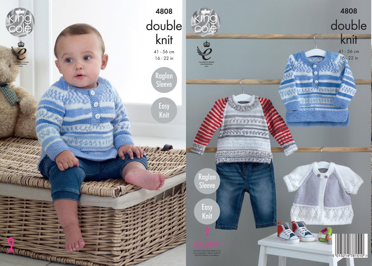 King cole 4808 knitting pattern baby sweaters and cardigan in king king cole 4808 knitting pattern baby sweaters and cardigan in king cole cherish cherished dk bankloansurffo Gallery