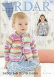 Sirdar 4779 Knitting Pattern Baby Girls Round and V Neck Cardigans in Snuggly Baby Crofter Chunky