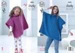 King Cole 4842 Knitting Pattern Childs & Adult Poncho in Big Value Chunky