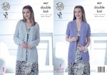 King Cole 4837 Knitting Pattern Womens Long & Short Sleeved Cardigans in King Cole Cottonsoft DK