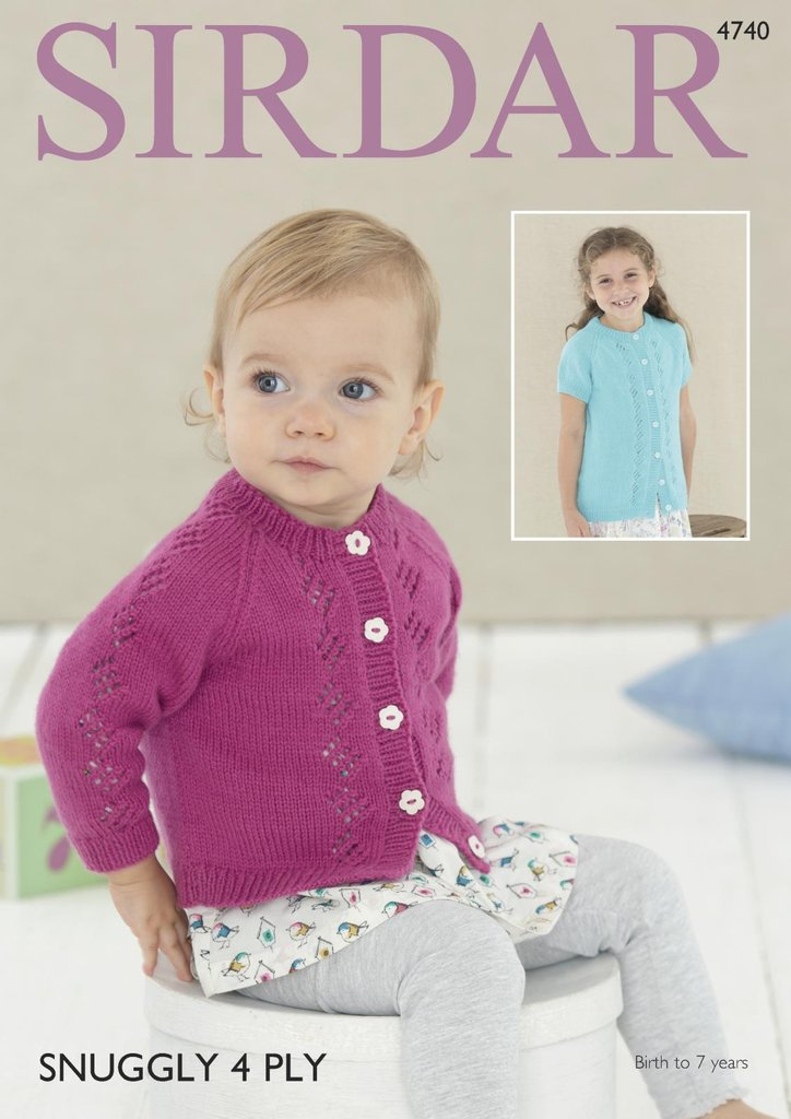 Sirdar 4740 Knitting Pattern Baby Amp Girls Cardigans In