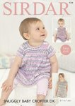Sirdar 4754 Knitting Pattern Baby & Girls Easy Knit Dresses in Sirdar Snuggly Baby Crofter DK