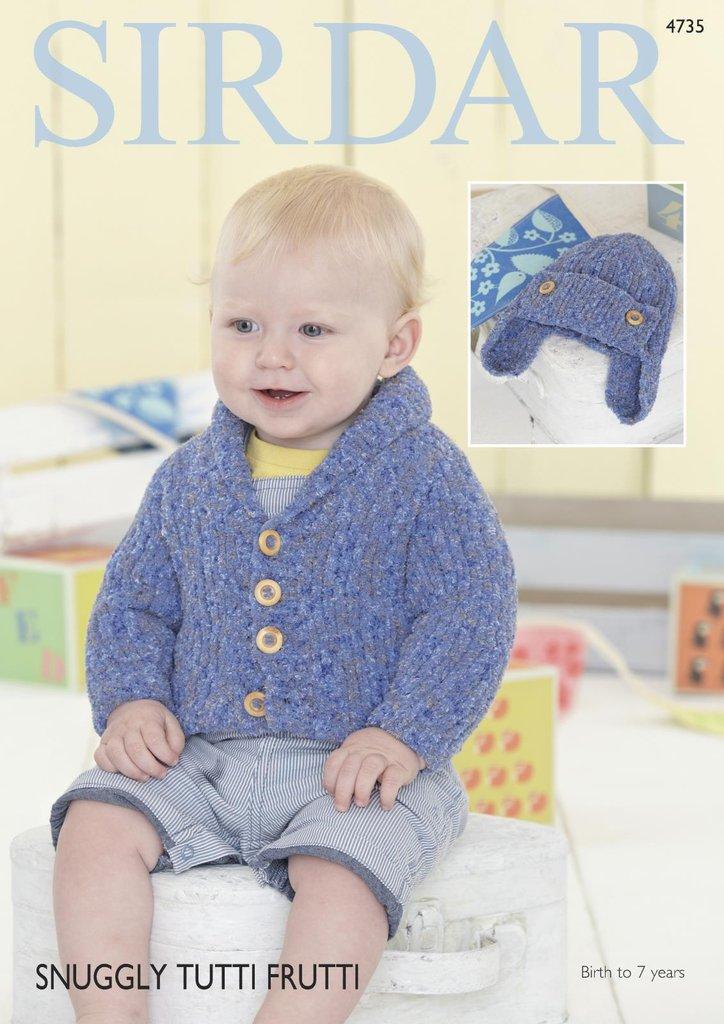Sirdar 4735 Knitting Pattern Baby Amp Boys Cardigan And