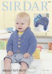 Sirdar 4735 Knitting Pattern Baby & Boys Cardigan and Helmet in Sirdar Snuggly Tutti Fruitti
