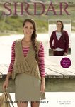 Sirdar 7903 Knitting Pattern Womens Cardigan & Waistcoat in Sirdar Harrap Tweed Chunky